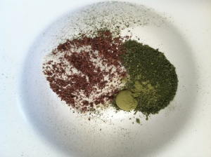 Salt + matcha + herb mix + dulse granules